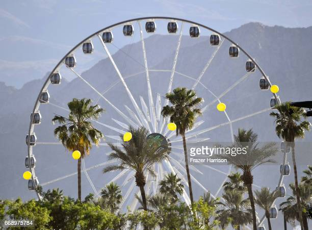 A view of the ferris wheel during day 2 of the Coachella Valley Music And Arts Festival at the Empire Polo Club on April 15 2017 in Indio California