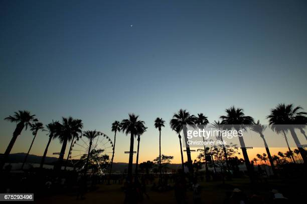 A view of the ferris wheel during day 3 of 2017 Stagecoach California's Country Music Festival at the Empire Polo Club on April 30 2017 in Indio...