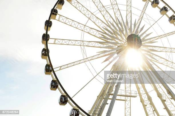 A view of the Ferris wheel during day 3 of the 2017 Coachella Valley Music Arts Festival at the Empire Polo Club on April 23 2017 in Indio California