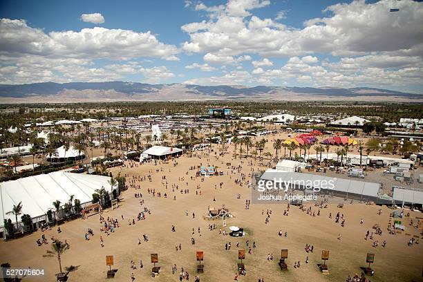 A view of the fesitval is seen during 2016 Stagecoach California's Country Music Festival at Empire Polo Club on May 01 2016 in Indio California