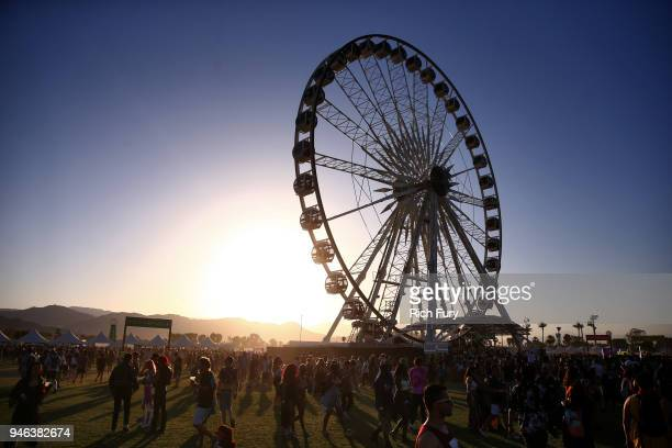 A view of the festival grounds during 2018 Coachella Valley Music And Arts Festival Weekend 1 at the Empire Polo Field on April 14 2018 in Indio...