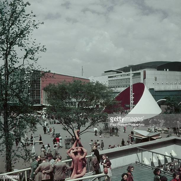 A view of the Festival of Britain site on the South Bank London 1951