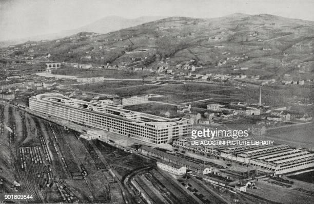 View of the Fiat plant in Lingotto Turin Italy from L'Illustrazione Italiana Year LII No 50 December 13 1925
