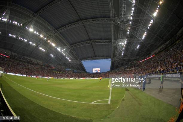 A view of the field of Singapore National Stadium during the International Champions Cup match between Chelsea FC and FC Bayern Munich on July 25...