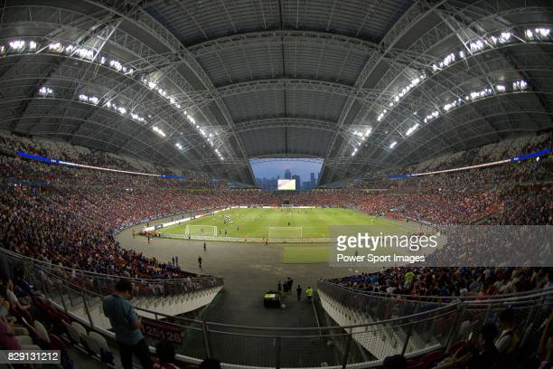 View of the field of Singapore National Stadium during the International Champions Cup match between Chelsea FC and FC Bayern Munich on July 25, 2017...