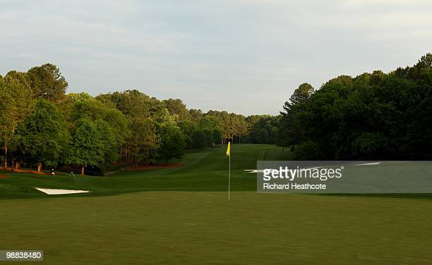 View of the fifth green during Quail Hollow Championship at Quail Hollow Country Club on May 1, 2010 in Charlotte, North Carolina.
