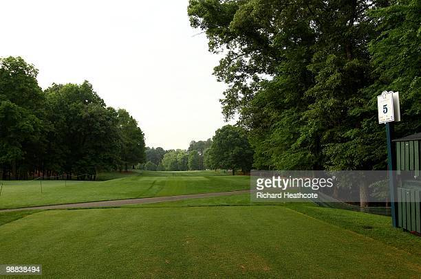 A view of the fifth tee during Quail Hollow Championship at Quail Hollow Country Club on May 1 2010 in Charlotte North Carolina