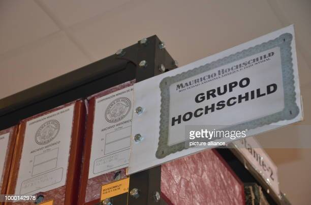 View of the files of the mine owner Moritz Hochschild, seen in the Bolivian Mining archive in El Alto, Bolivia, 26 May 2017. Photo: Georg Ismar/dpa