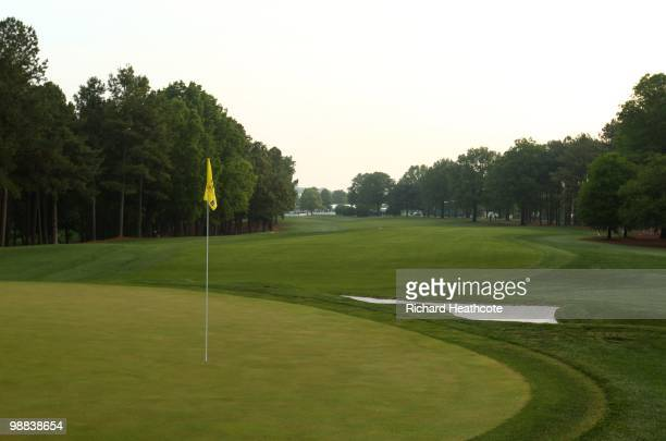 A view of the first green during Quail Hollow Championship at Quail Hollow Country Club on May 1 2010 in Charlotte North Carolina
