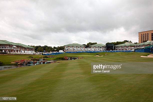 A view of the first hole during the HP Byron Nelson Championship at TPC Four Seasons Resort Las Colinas on May 21 2010 in Irving Texas