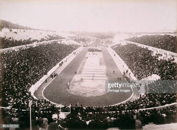 View of the first modern Olympic Games in Athens 1896