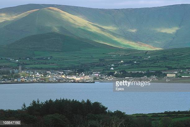 A view of the fishing town of Dingle and it's surrounding countryside County Kerry circa 1995 Dingle is the only town on the Dingle Peninsula and t...