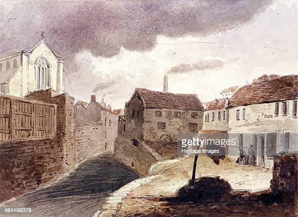View of the Fleet Ditch near Field Lane London c1850