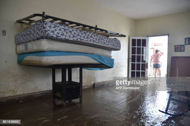 View of the flooded house of Maricel after the rains related to the passage of Hurricane Maria in Toa Baja Puerto Rico on September 22 2017 Puerto...