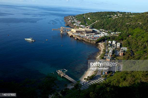 A view of the Flying Fish Cove February 28 2012 on Christmas Island Australia One man has been isolated in the hospital of the detention centre on...