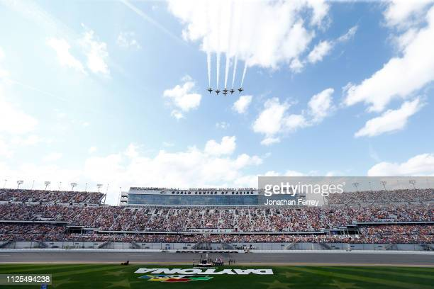 A view of the flyover prior to the Monster Energy NASCAR Cup Series 61st Annual Daytona 500 at Daytona International Speedway on February 17 2019 in...