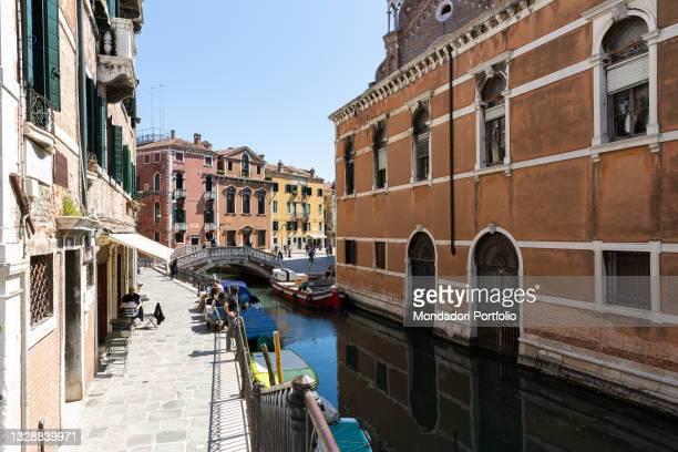 View of the Fondamenta dei Frari quay. Venice , May 31st, 2021
