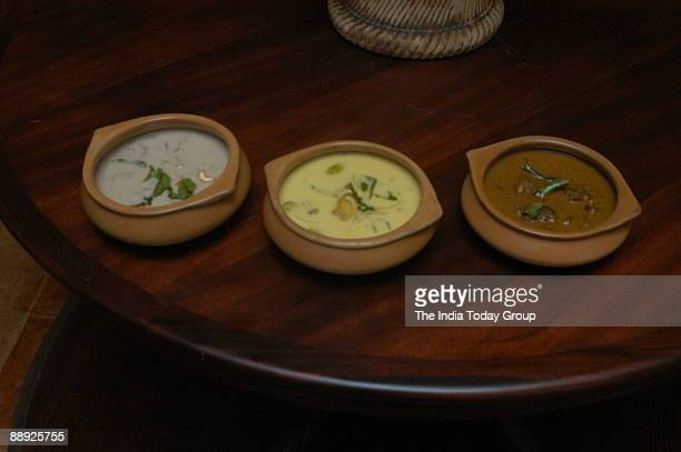 View of the food at Enthai Keralam Restaurant at Poes Garden in Chennai Tamil Nadu India