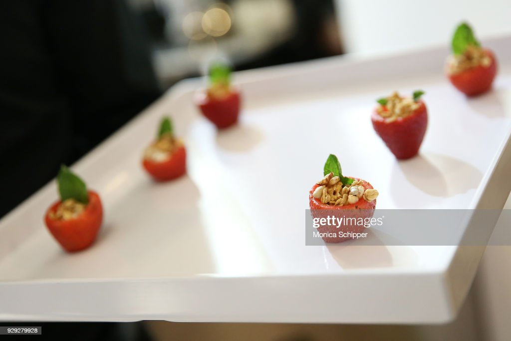 A view of the food being served at the Bloomingdale's launch of an exclusive collection with Nintendo on March 8, 2018 in New York City.