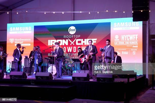 A view of the Food Network Cooking Channel New York City Wine Food Festival presented by CocaCola Rooftop Iron Chef Showdown Battle Autumn Bounty...