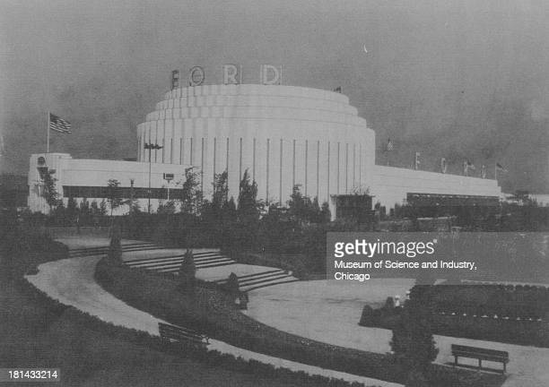 View of the Ford Motor Company Building at the Century of Progress International Exposition Chicago Illinois 1934 The Century of Progress was the...