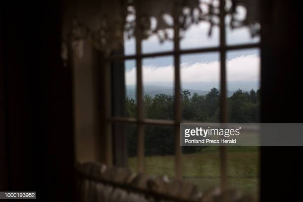 A view of the forest and mountains in the distance from a room in Beth Miller's home the old Parris family home Miller said that the 'village legend'...