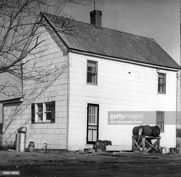 A view of the former residence of Harriet Tubman a white wooden house on Green Brier Road Bucktown Maryland 1940