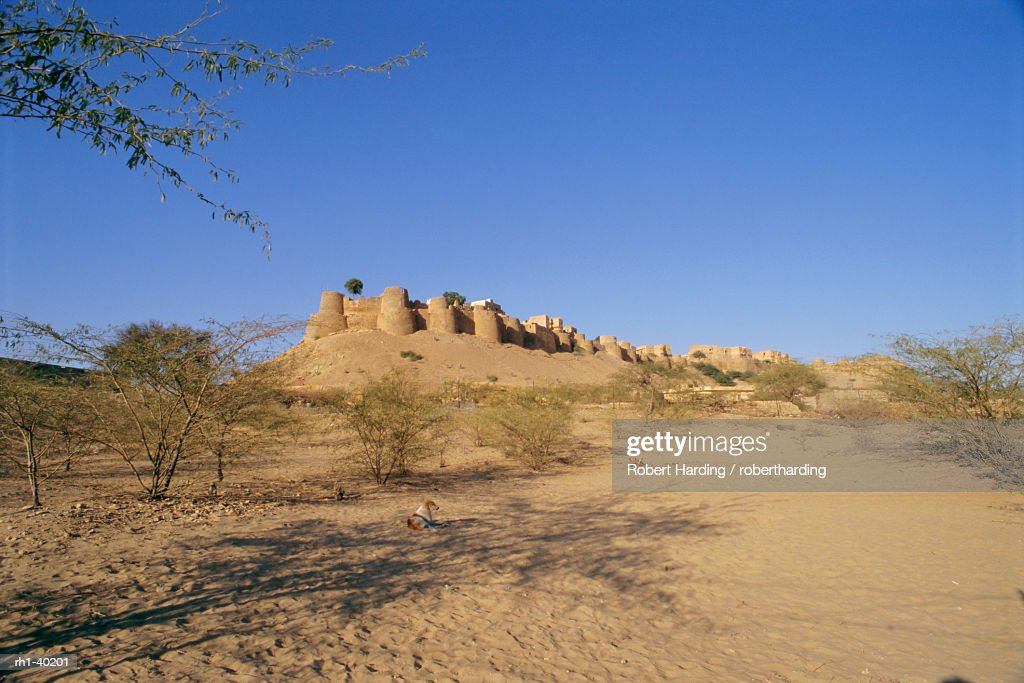 View of the fortified old city of Jaisalmer in the Thar Desert, Rajasthan, India : Foto de stock