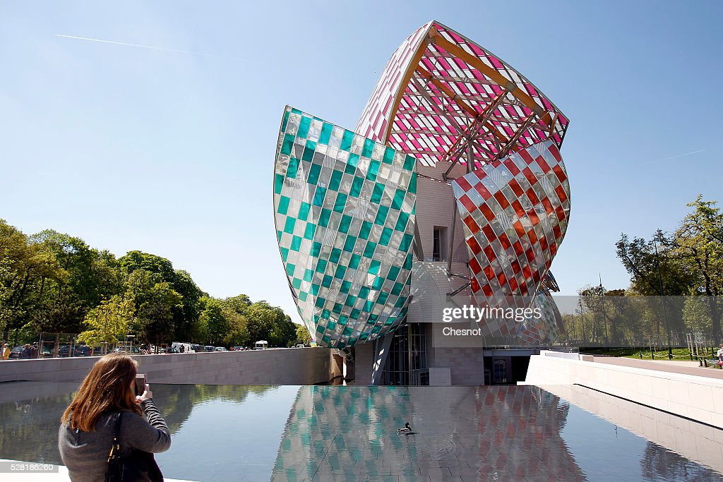 """Observatory of Light, Work in Situ"" : Foundation Louis Vuitton Presents A Temporary Work By Daniel Buren : News Photo"