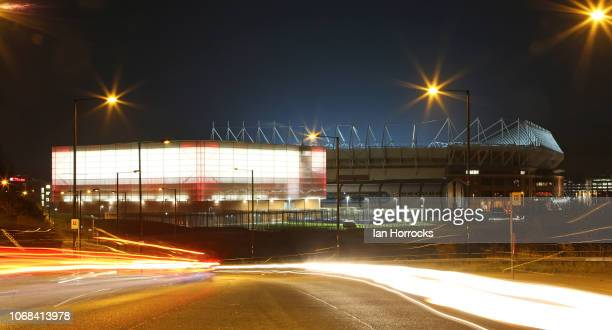A view of the Foundation of Light and the Stadium of Light before the Checkatrade Trophy match at Stadium of Light on December 4 2018 in Sunderland...