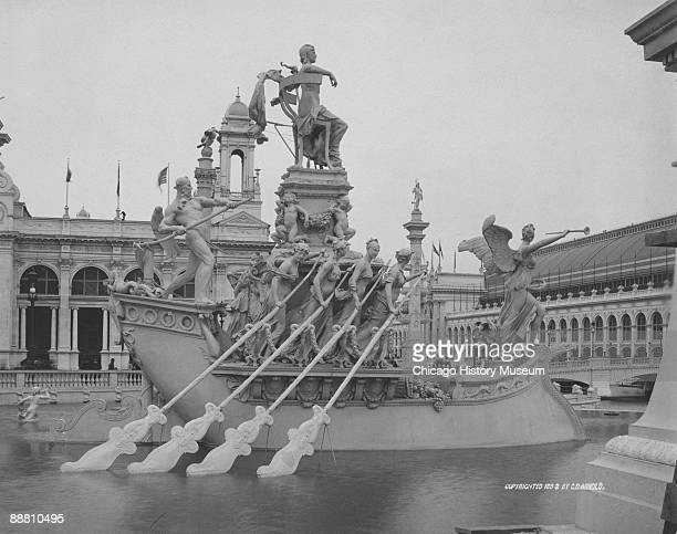 View of the Fountain of the Republic during Chicago's World's Columbian Exposition of 1893 Chicago IL