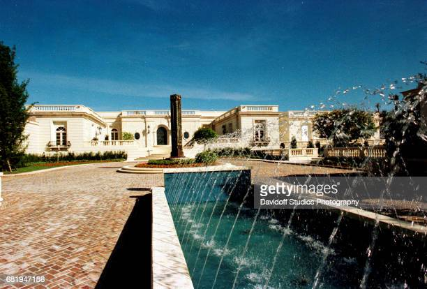 View of the fountains and a sculpture on the grounds of the Maison de l'Amitie estate Palm Beach Florida January 30 1990 The mansion was demolished...
