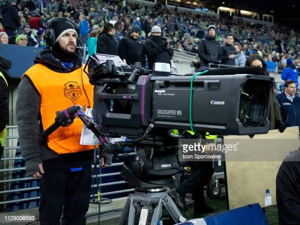 View of the Fox Sports One mid-field camera before the MLS regular season match between FC Cincinnati and Seattle Sounders on March 02 at CenturyLink...