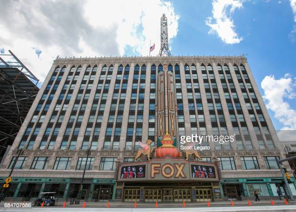 View of the Fox Theatre on May 18, 2017 in Detroit, Michigan. Soundgarden frontman Chris Cornell passed away following their performance at the...