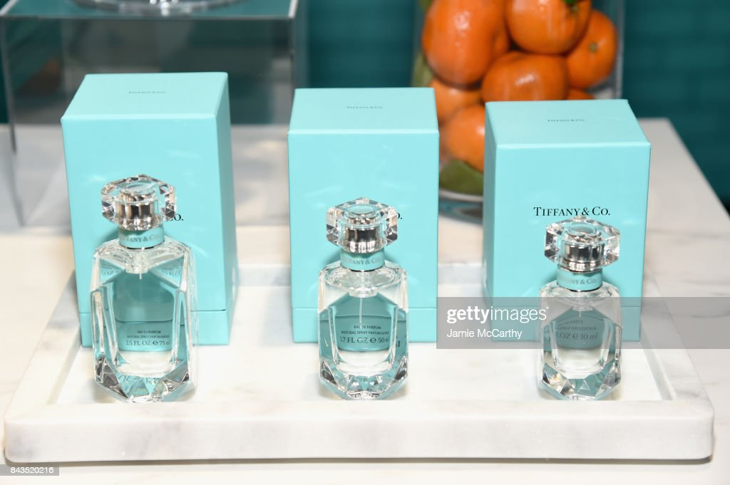613240d02a A view of the fragrance bar at the Tiffany   Co. Fragrance launch ...