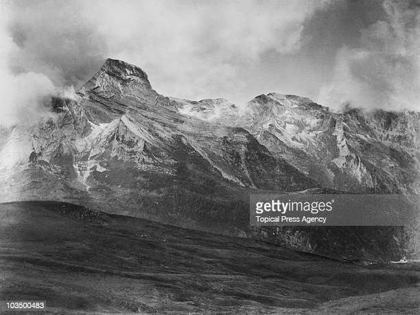 View of the French Pyrenees from the Col d'Aubisque, 1948.