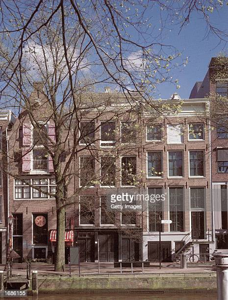 View of the front exterior of the Anne Frank House museum in Amsterdam the Netherlands circa 2000