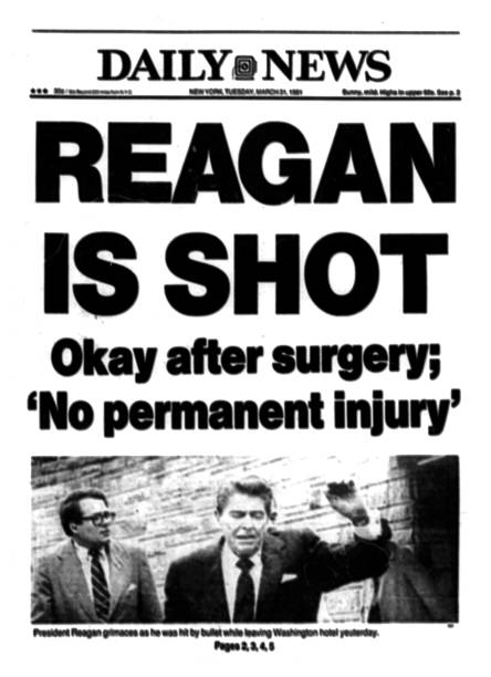UNS: 30th March 1981 - President Ronald Reagan Shot