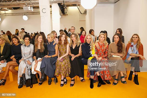A view of the front row at the Emilia Wickstead show during London Fashion Week Spring/Summer collections 2016/2017 on September 17 2016 in London...