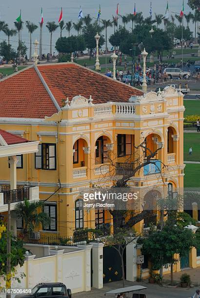 View of the fully refurbished French colonial-era mansion used as the headquarters for the local branch of UNESCO, across the street from the Royal...