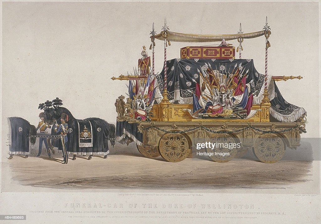 View of the funeral car of the Duke of Wellington, 1852. Artist: Richard Redgrave : News Photo