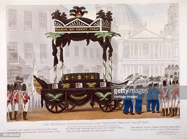 View of the funeral procession of Lord Nelson London 1806
