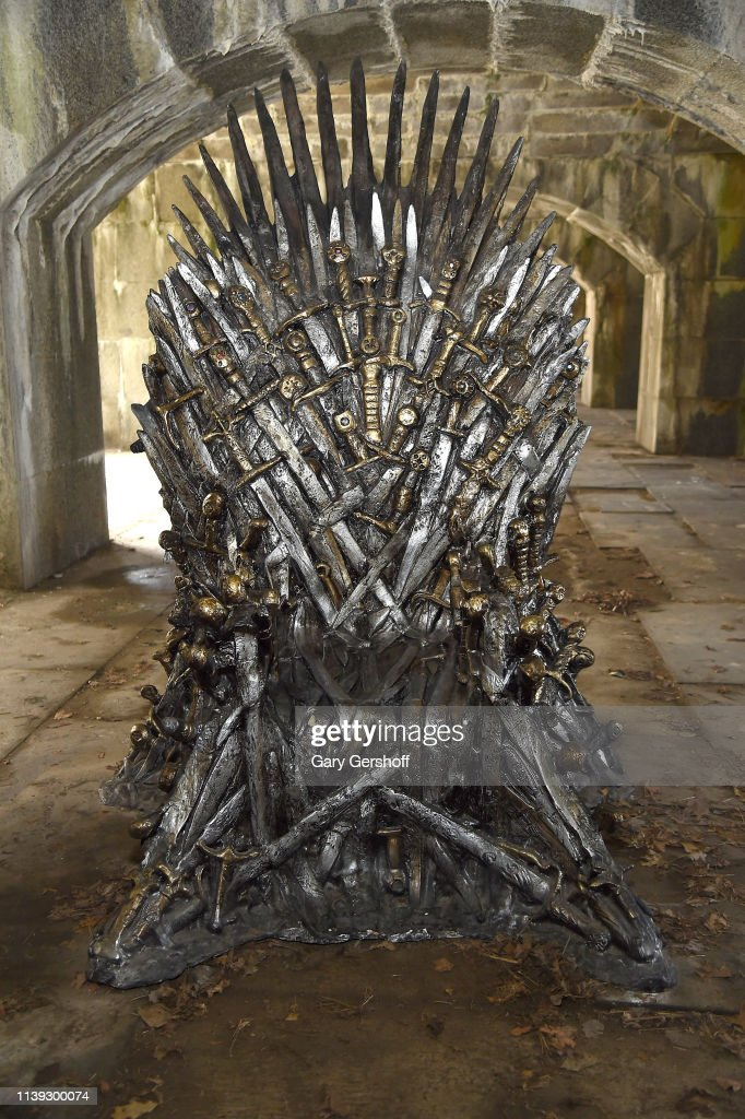 """Game Of Thrones"" Iron Throne Replica Appears In Queens Ahead Of Final Season : News Photo"