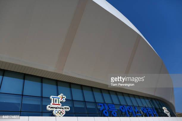 A view of the Gangneung Ice Arena in the Gangneung Coastal Cluster host of the Pyeongchang 2018 Winter Olympic Games on February 28 2017 in Gangneung...
