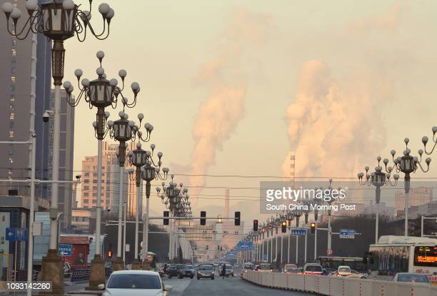 View of the Gangtie Street in Baotou city, Inner Mongolia, on Nov. 18, 2017. The first metro line was planned to built under the ground along this...