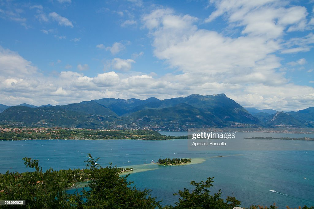 View of the Garda lake : Stock Photo