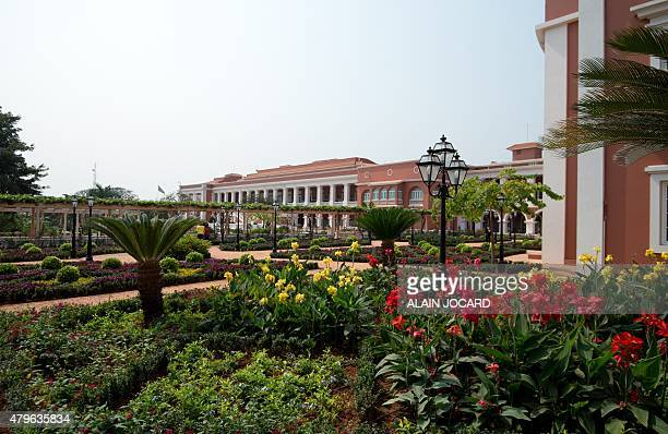 View of the gardens of the Presidential Palace, in Luanda, taken on July 3, 2015. AFP PHOTO/ ALAIN JOCARD