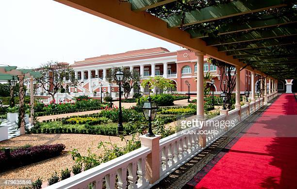 A view of the gardens of the Presidential Palace in Luanda taken on July 3 2015 AFP PHOTO/ ALAIN JOCARD