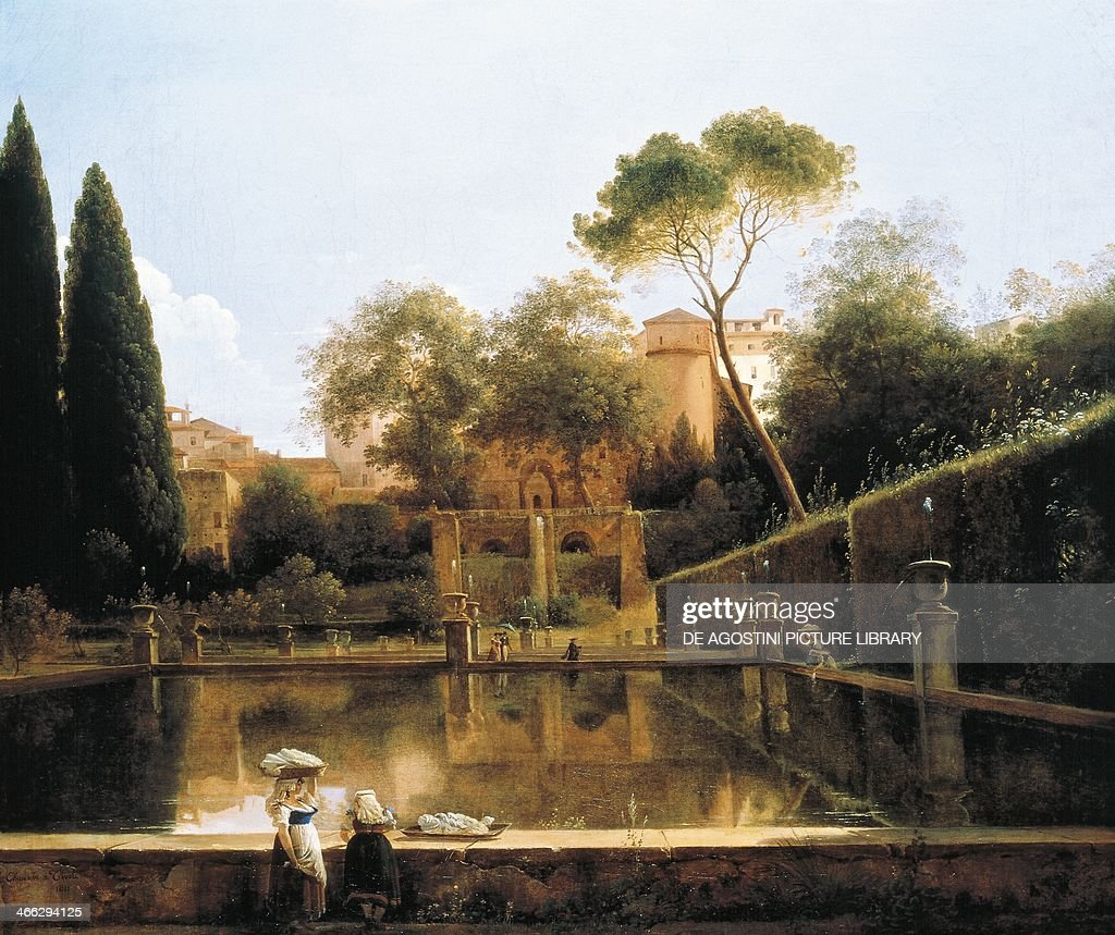 View of gardens of Villa d\'Este in Tivoli Pictures | Getty Images
