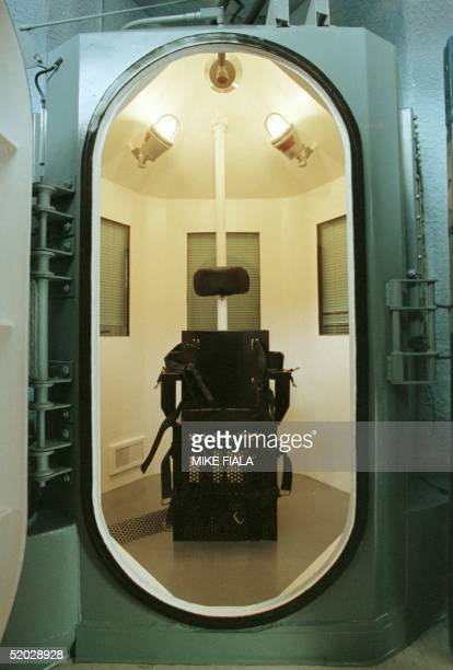 View of the gas chamber used for executions inside 'Death House' at the Florence prison complex in Florence some 80 miles southeast of Phoenix 11...